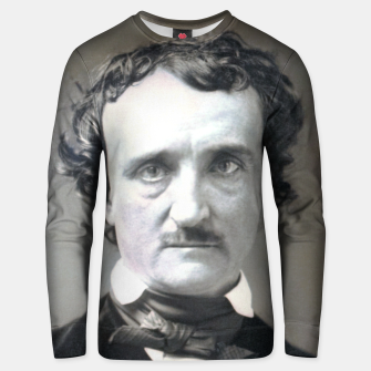 Thumbnail image of Photo restored of Portrait of  Edgar Allan Poe Unisex sweater, Live Heroes
