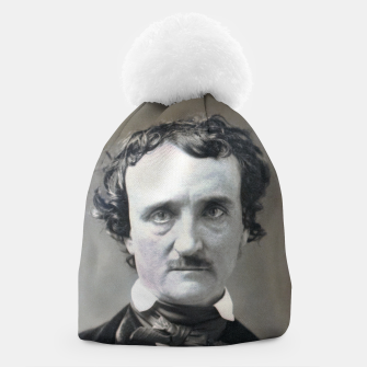 Thumbnail image of Photo restored of Portrait of  Edgar Allan Poe Beanie, Live Heroes