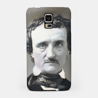 Thumbnail image of Photo restored of Portrait of  Edgar Allan Poe Samsung Case, Live Heroes