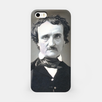 Thumbnail image of Photo restored of Portrait of  Edgar Allan Poe iPhone Case, Live Heroes
