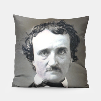 Thumbnail image of Photo restored of Portrait of  Edgar Allan Poe Pillow, Live Heroes