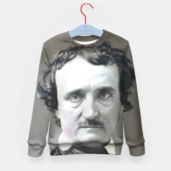 Thumbnail image of Photo restored of Portrait of  Edgar Allan Poe Kid's sweater, Live Heroes
