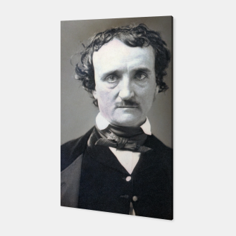 Thumbnail image of Photo restored of Portrait of  Edgar Allan Poe Canvas, Live Heroes