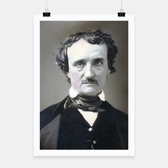 Thumbnail image of Photo restored of Portrait of  Edgar Allan Poe Poster, Live Heroes