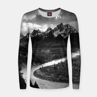 Miniaturka  Photography by Ansel Adams - The Tetons and the Snake River (1942) Grand Teton National Park, Wyoming Women sweater, Live Heroes