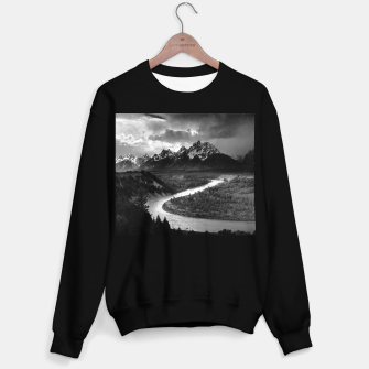 Miniaturka  Photography by Ansel Adams - The Tetons and the Snake River (1942) Grand Teton National Park, Wyoming Sweater regular, Live Heroes