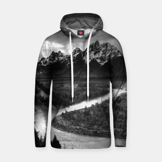 Miniaturka  Photography by Ansel Adams - The Tetons and the Snake River (1942) Grand Teton National Park, Wyoming Hoodie, Live Heroes