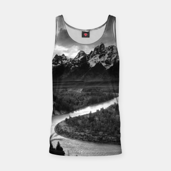 Miniaturka  Photography by Ansel Adams - The Tetons and the Snake River (1942) Grand Teton National Park, Wyoming Tank Top, Live Heroes