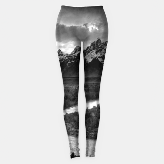 Miniaturka  Photography by Ansel Adams - The Tetons and the Snake River (1942) Grand Teton National Park, Wyoming Leggings, Live Heroes