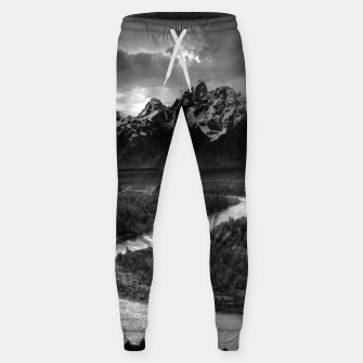 Miniaturka  Photography by Ansel Adams - The Tetons and the Snake River (1942) Grand Teton National Park, Wyoming Sweatpants, Live Heroes