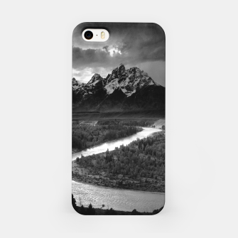 Miniaturka  Photography by Ansel Adams - The Tetons and the Snake River (1942) Grand Teton National Park, Wyoming iPhone Case, Live Heroes