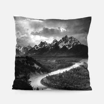 Miniaturka  Photography by Ansel Adams - The Tetons and the Snake River (1942) Grand Teton National Park, Wyoming Pillow, Live Heroes