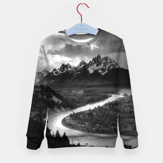 Miniaturka  Photography by Ansel Adams - The Tetons and the Snake River (1942) Grand Teton National Park, Wyoming Kid's sweater, Live Heroes