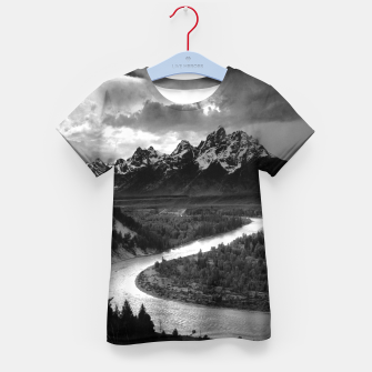 Miniaturka  Photography by Ansel Adams - The Tetons and the Snake River (1942) Grand Teton National Park, Wyoming Kid's t-shirt, Live Heroes