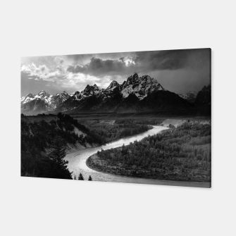Miniatur  Photography by Ansel Adams - The Tetons and the Snake River (1942) Grand Teton National Park, Wyoming Canvas, Live Heroes