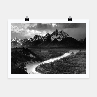 Miniatur  Photography by Ansel Adams - The Tetons and the Snake River (1942) Grand Teton National Park, Wyoming Poster, Live Heroes