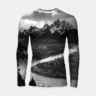 Miniatur  Photography by Ansel Adams - The Tetons and the Snake River (1942) Grand Teton National Park, Wyoming Longsleeve rashguard , Live Heroes