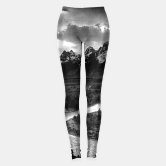 Miniatur  Photography by Ansel Adams - The Tetons and the Snake River (1942) Grand Teton National Park, Wyoming Leggings, Live Heroes