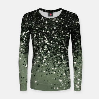 Thumbnail image of Cactus Green Black Glitter #1 (Faux Glitter - Photography) #shiny #decor #art  Frauen sweatshirt, Live Heroes