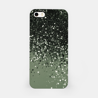 Thumbnail image of Cactus Green Black Glitter #1 (Faux Glitter - Photography) #shiny #decor #art  iPhone-Hülle, Live Heroes