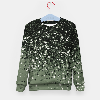 Thumbnail image of Cactus Green Black Glitter #1 (Faux Glitter - Photography) #shiny #decor #art  Kindersweatshirt, Live Heroes