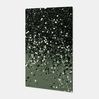 Thumbnail image of Cactus Green Black Glitter #1 (Faux Glitter - Photography) #shiny #decor #art  Canvas, Live Heroes