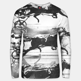 Miniatur Photo Finish of a race at  Freehold Raceway (USA)   Unisex sweater, Live Heroes
