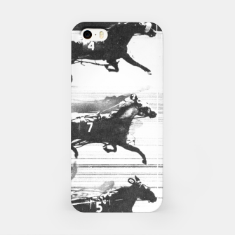 Miniatur Photo Finish of a race at  Freehold Raceway (USA)   iPhone Case, Live Heroes
