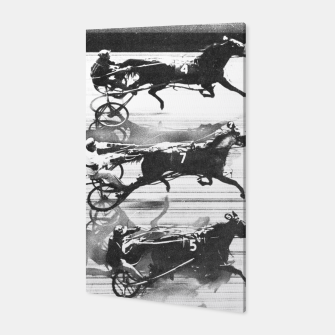 Miniatur Photo Finish of a race at  Freehold Raceway (USA)   Canvas, Live Heroes