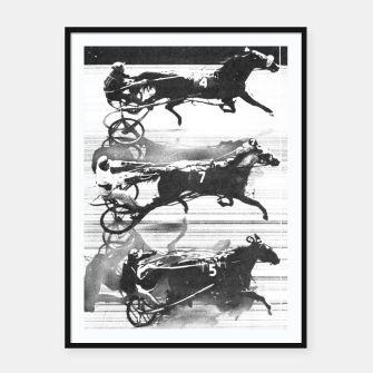 Miniatur Photo Finish of a race at  Freehold Raceway (USA)   Framed poster, Live Heroes