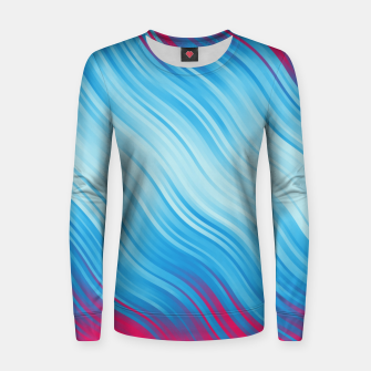 Thumbnail image of Stripes Wave Pattern 10 bp Women sweater, Live Heroes