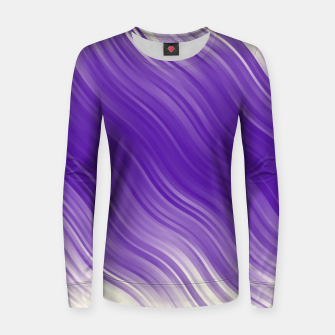 Thumbnail image of Stripes Wave Pattern 10 ppi Women sweater, Live Heroes