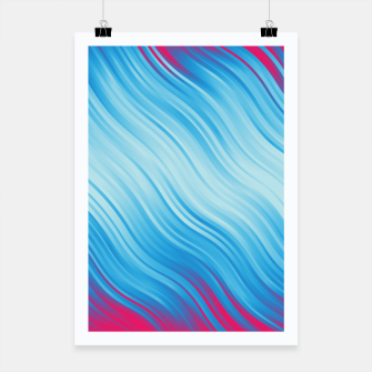 Thumbnail image of Stripes Wave Pattern 10 bp Poster, Live Heroes