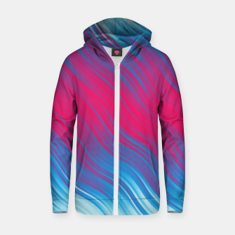 Thumbnail image of Stripes Wave Pattern 10 bpi Zip up hoodie, Live Heroes