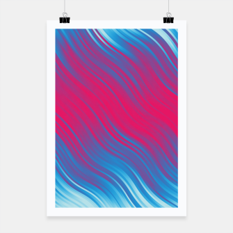 Thumbnail image of Stripes Wave Pattern 10 bpi Poster, Live Heroes