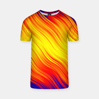 Thumbnail image of Stripes Wave Pattern 10 bry T-shirt, Live Heroes
