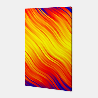 Stripes Wave Pattern 10 bry Canvas thumbnail image