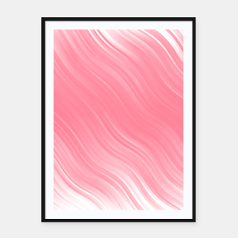 Thumbnail image of Stripes Wave Pattern 10 pwi Framed poster, Live Heroes