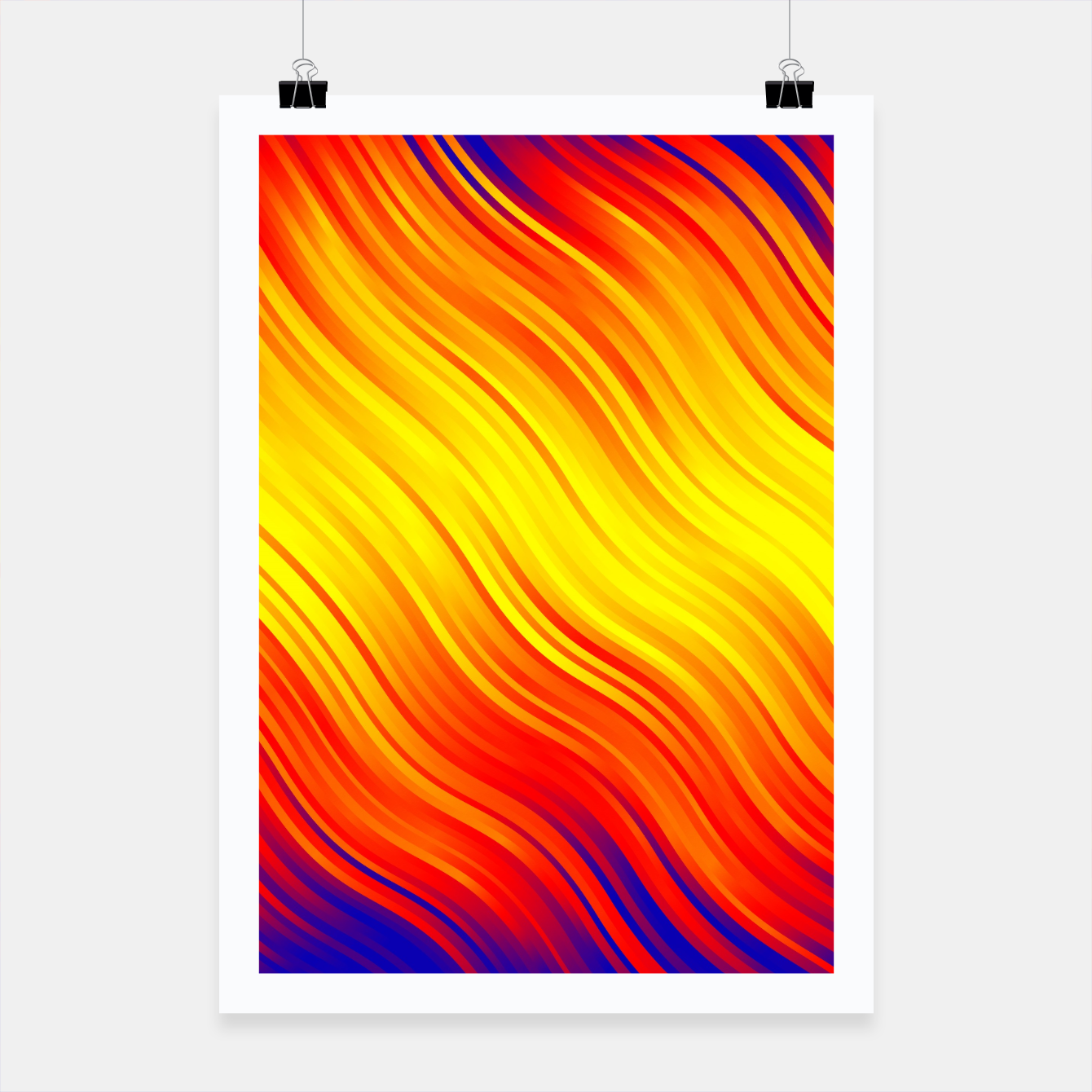 Image of Stripes Wave Pattern 10 bry Poster - Live Heroes