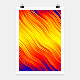 Thumbnail image of Stripes Wave Pattern 10 bry Poster, Live Heroes