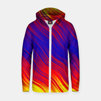 Thumbnail image of Stripes Wave Pattern 10 bryi Zip up hoodie, Live Heroes