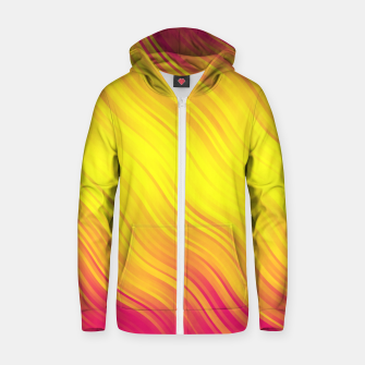 Thumbnail image of Stripes Wave Pattern 10 py Zip up hoodie, Live Heroes