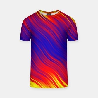 Thumbnail image of Stripes Wave Pattern 10 bryi T-shirt, Live Heroes