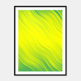 Thumbnail image of Stripes Wave Pattern 10 gy Framed poster, Live Heroes