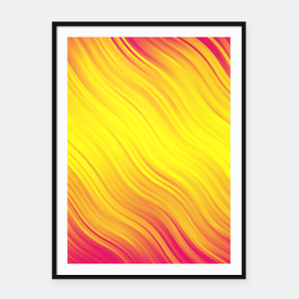 Thumbnail image of Stripes Wave Pattern 10 py Framed poster, Live Heroes
