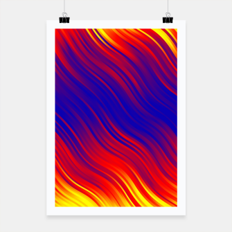 Thumbnail image of Stripes Wave Pattern 10 bryi Poster, Live Heroes