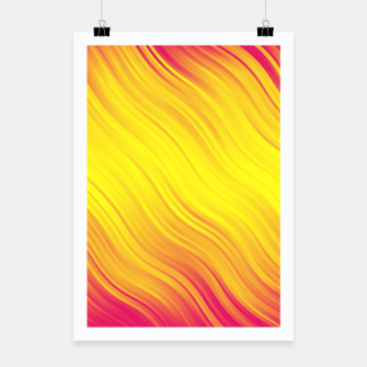 Thumbnail image of Stripes Wave Pattern 10 py Poster, Live Heroes