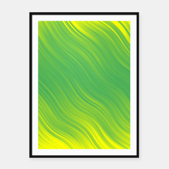 Stripes Wave Pattern 10 gyi Framed poster miniature