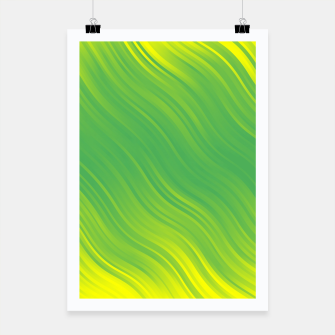 Thumbnail image of Stripes Wave Pattern 10 gyi Poster, Live Heroes