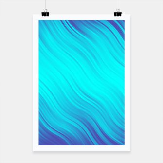 Thumbnail image of Stripes Wave Pattern 10 bt Poster, Live Heroes